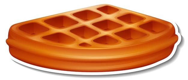 Adesivo waffle su sfondo bianco