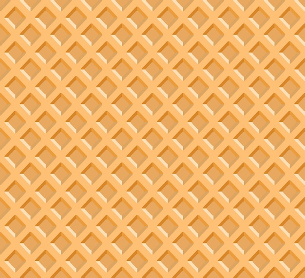Waffle texture background vector