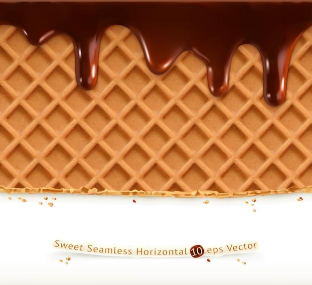 Waffles and chocolate illustration