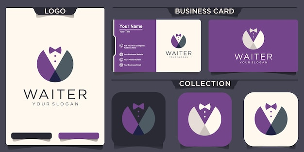 ウェイター紳士アイコンベクトルビジネスマンシンボル