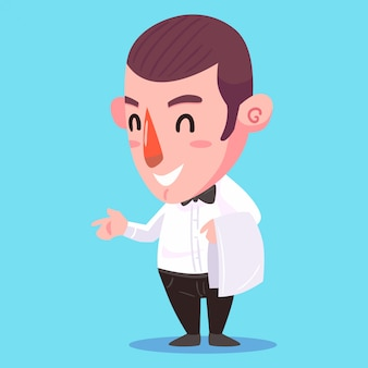 Waiter vector illustration