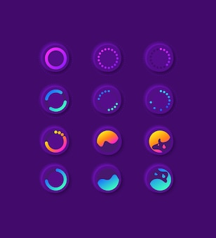 Waiting circles ui elements kit