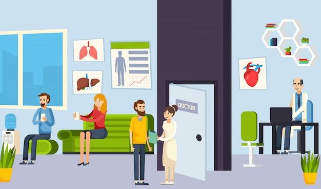 Sala d'attesa nella composizione clinica
