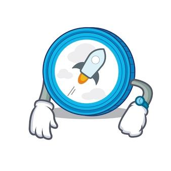 Waiting stellar coin character cartoon