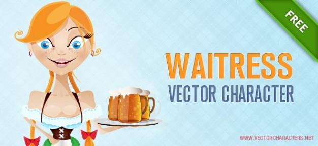 Waitress vector character