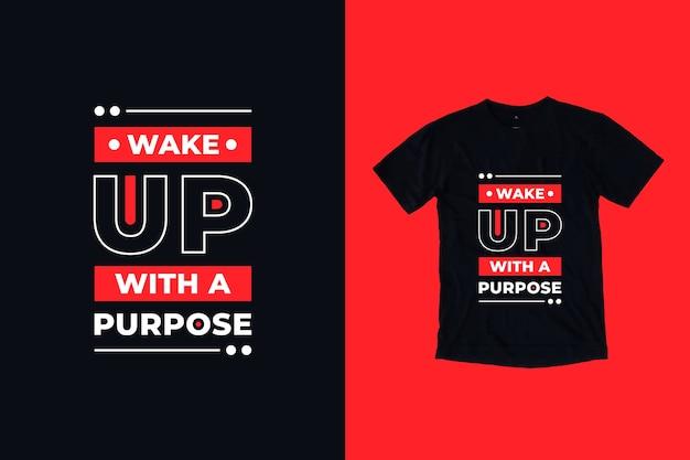 目を覚ます目的の引用tシャツのデザイン