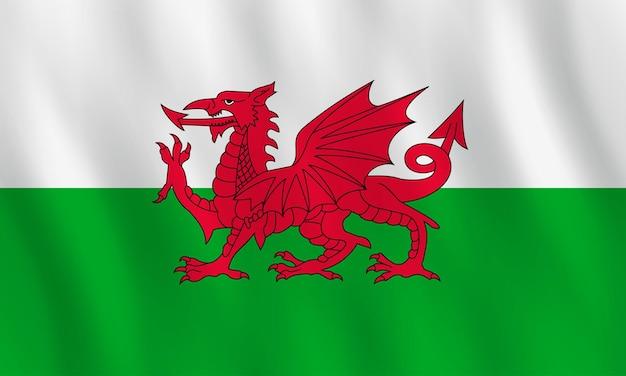 ウェールズの旗を振る効果、公式の比率。