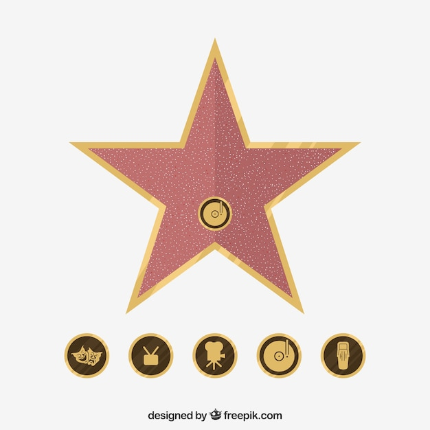 image relating to Hollywood Star Template Printable named Hollywood Star Vectors, Pictures and PSD documents Totally free Obtain