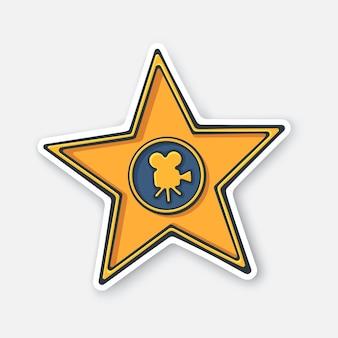 Аллея славы звезды награды памятник векторные иллюстрации