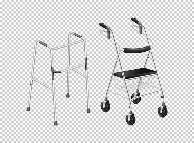 Camminatore con ruote per anziani