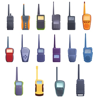 Walkie talkie set, cartoon style