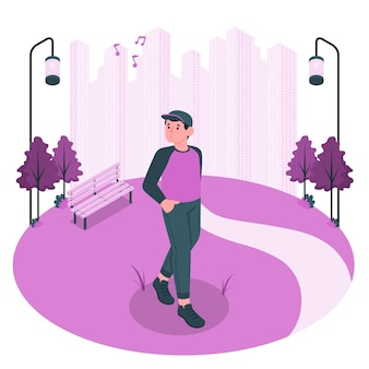 Walking aroundconcept illustration