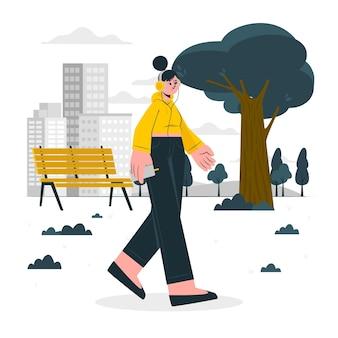 Walking around concept illustration