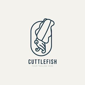 Ходьба каракатица минималистский линии искусства логотип шаблон вектор дизайн иллюстрация простой современный логотип