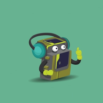 Walkman фона иллюстрации