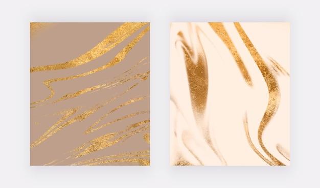 Настенные принты с золотым блеском