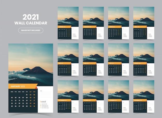 Настенный календарь 2021 шаблон