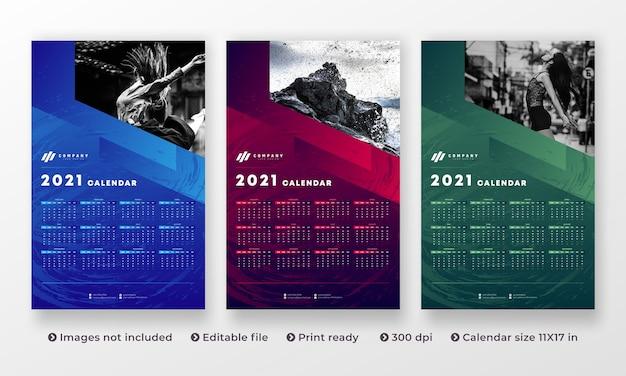 Wall calendar modern