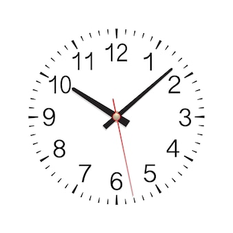 Wall clock dial on white background