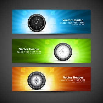 Wall clock headers