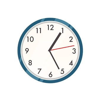 Wall clock illustration. contemporary timepiece, interior decor item