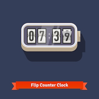 Wall flipping clock and number counter template