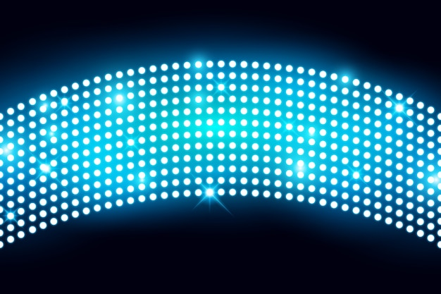 Wall led light screen with lightbulp vector illustration
