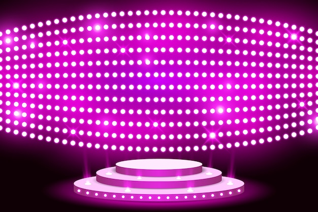 Wall led light stage screen with lightbulp