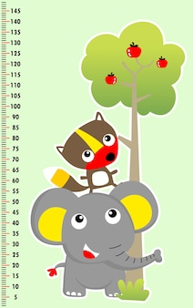 Wall meter with cute animals