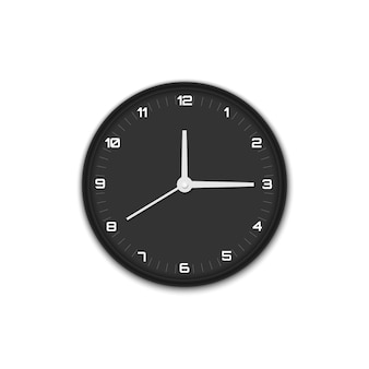 Wall office clock isolated