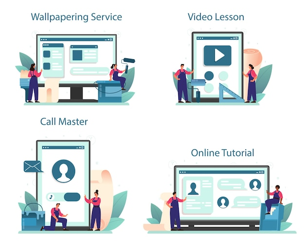 Онлайн-сервис или платформа для оклейки обоев