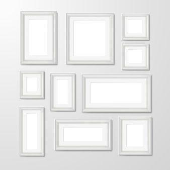 Wall photo frames collection illustration