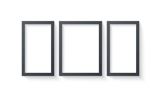 Wall picture frame templates isolated on white background