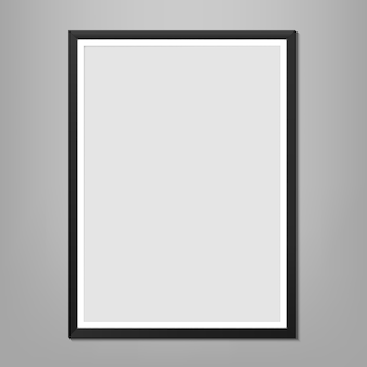Wall picture frames template, blank photo.