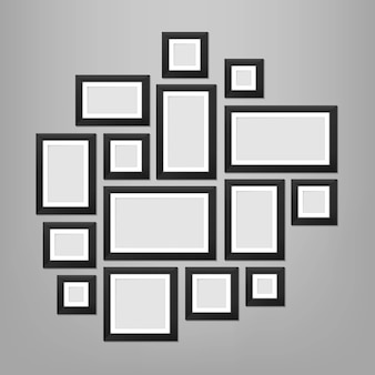 Wall picture frames template