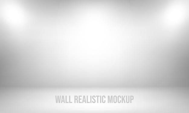 Wall realistic mockup