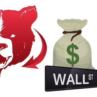 Wall street new york financial