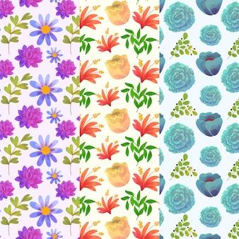 Arazzo da parete con fiori di primavera in fiore ad acquerello