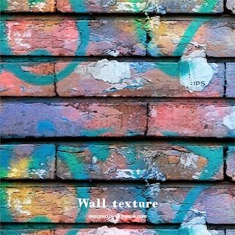 多色塗料で壁のテクスチャ
