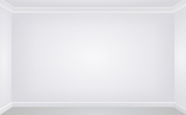 Wall in a white empty room