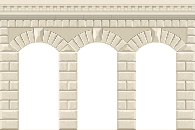 Wall with arches