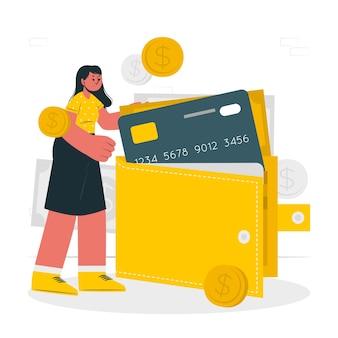 Illustrazione di concetto di portafoglio