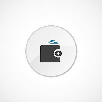 지갑 아이콘 2 색, 회색 및 파란색, 원형 배지
