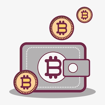ウォレットアイコンとビットコイン通貨