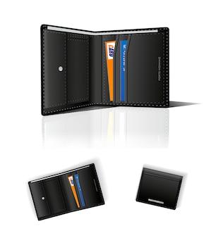 Wallet.  illustration  on white background.