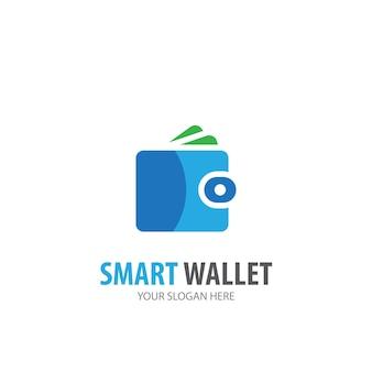 Логотип кошелька для деловой компании. простой дизайн идеи логотипа кошелька. концепция фирменного стиля. значок creative wallet из коллекции аксессуаров.