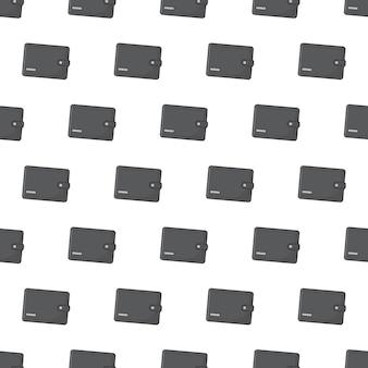 흰색 배경에 지갑 원활한 패턴입니다. 비즈니스 테마 벡터 일러스트 레이 션 프리미엄 벡터