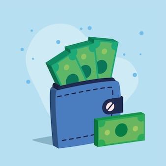 현금 돈 달러 지갑