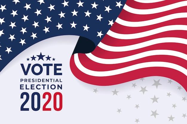 Sfondo per le elezioni presidenziali americane del 2020