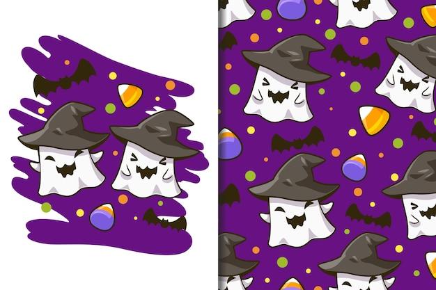 壁紙とパターンのハロウィーンフェスティバル漫画